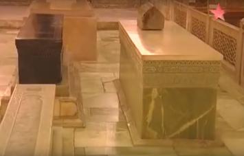 Tamerlane's tomb ( in black) today