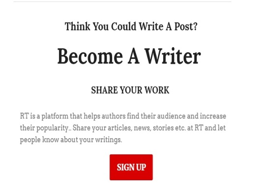 Author Sign Up Form